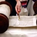 Torah scroll and yad (Torah pointer, literally, hand)