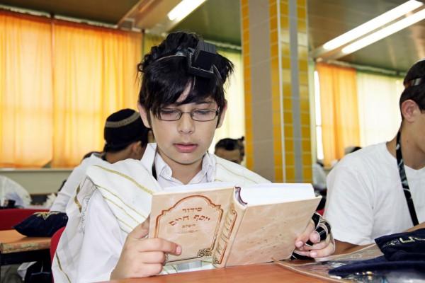 Jewish student-Siddur-tefillin-tallit