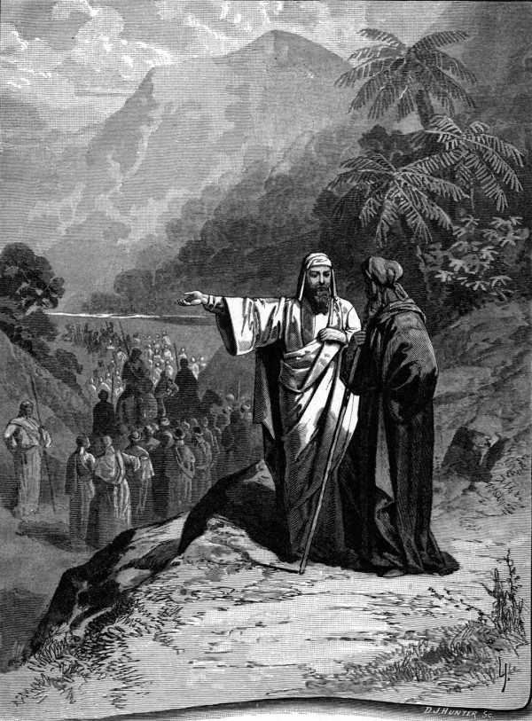 Abraham and Lot Divided the Land (Bible Pictures and What They Teach Us by Charles Foster, 1897)
