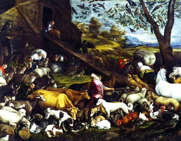 Entry of the Animals into the Ark, by Jacopo Bassana