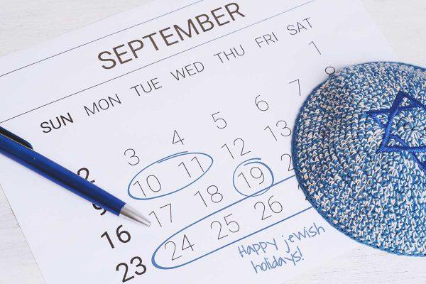 September 2018 Jewish holiday calendar