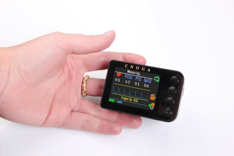 The TensorTip MATRIX (MTX) is a compact, finger-mount, non-invasive device capable of measuring Hemodynamic & Bio parameters, Blood Gases and Blood Chemistry for professional community use (doctors, nurses, paramedics etc.) as well as for home / remote medical monitoring for private patients.