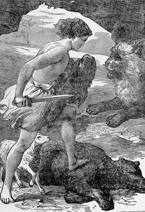 David-Bible illustrations-Shepherd-lion-bear