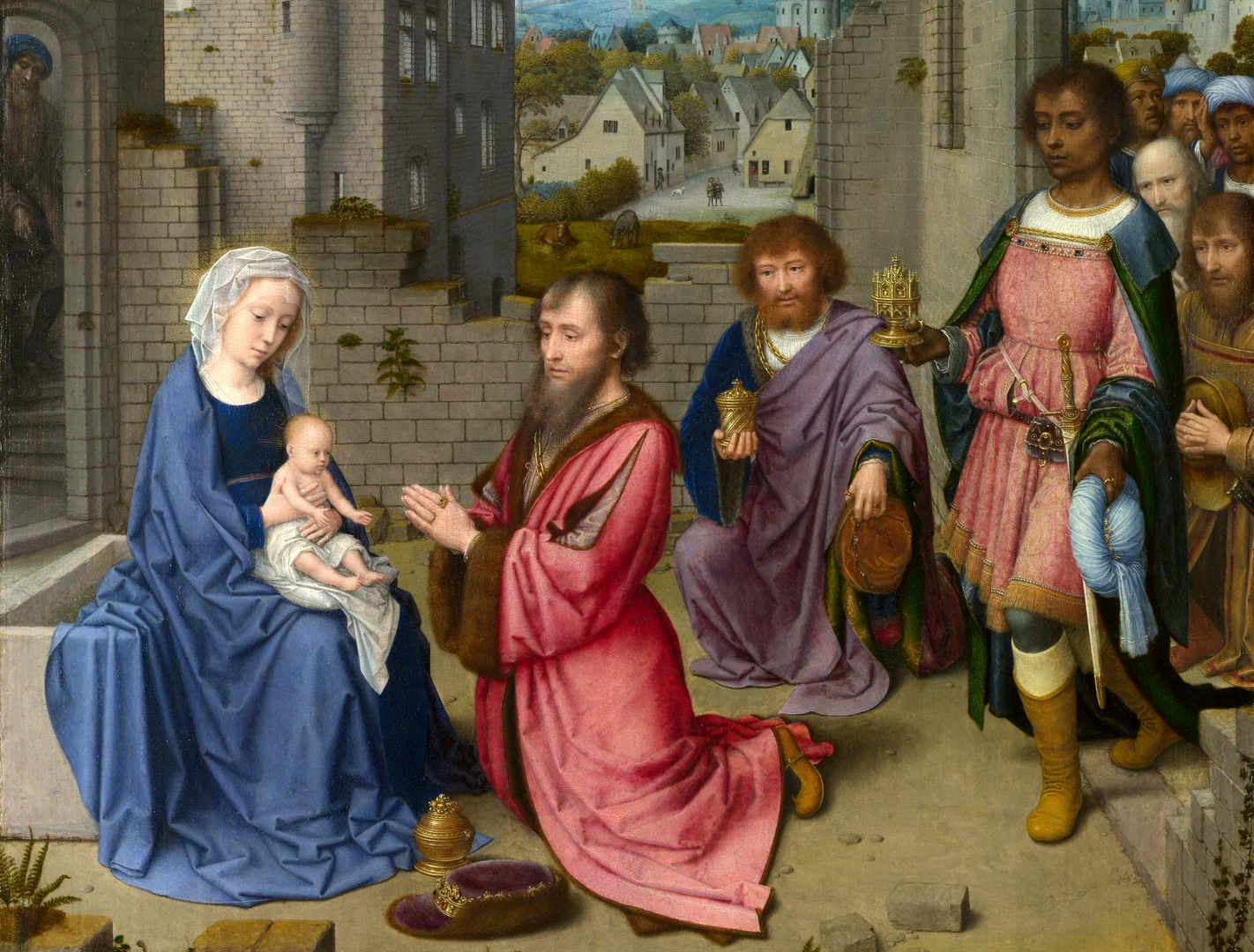 Adoration of the Kings, by Gerard David (The National Gallery)