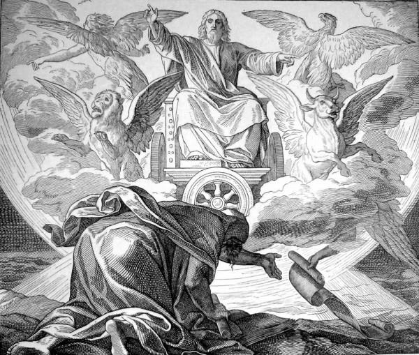 Ezekiel, visions, chariot, throne, wheels