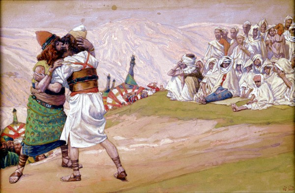 The Meeting of Esau and Jacob, James Tissot, reconciliation