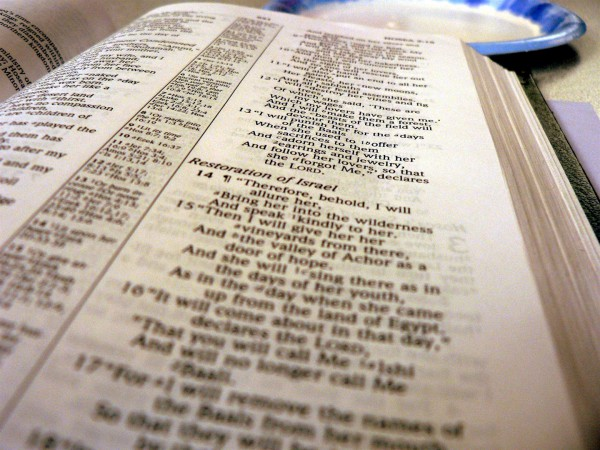 Bible open to book of Hosea