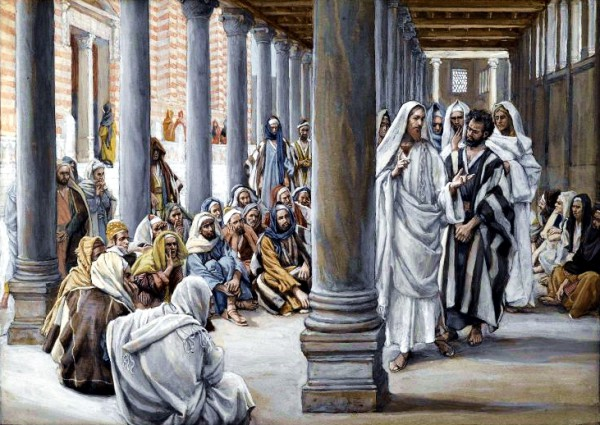 Yeshua Walks in the Portico of Solomon, by James Tissot
