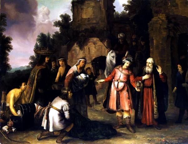 The Prophet Elisha Declines Naaman's Gift, by Abraham van Dijck