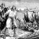 Elijah Casting His Mantle on Elisha