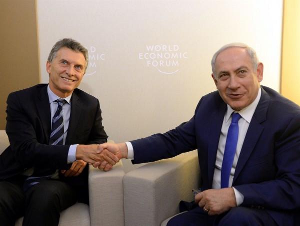 Mauricio Macri, Benjamin Netanyahu, Israel, Argentina