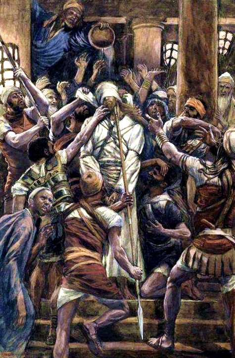 Maltreatments in the House of Caiaphas, by James Tissot