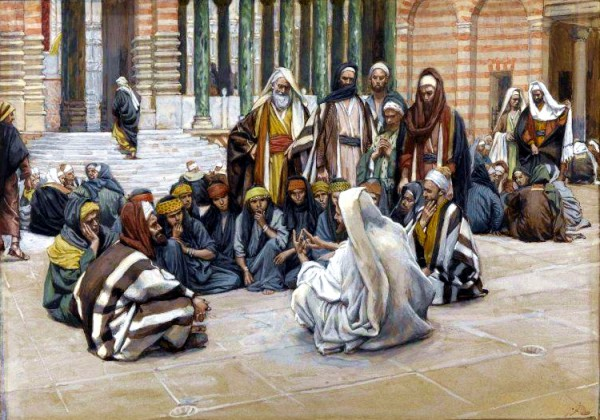 Yeshua Speaks Near the Treasury, by James Tissot