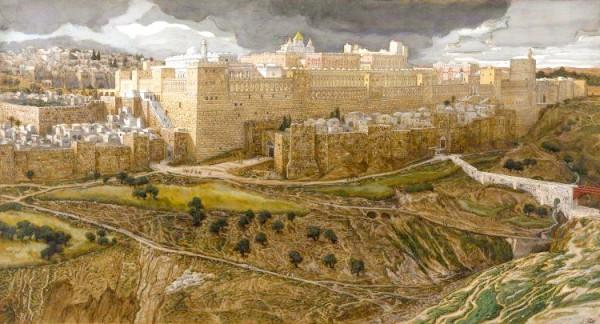 Reconstruction of the Temple of Herod, Southeast Corner, by James Tissot