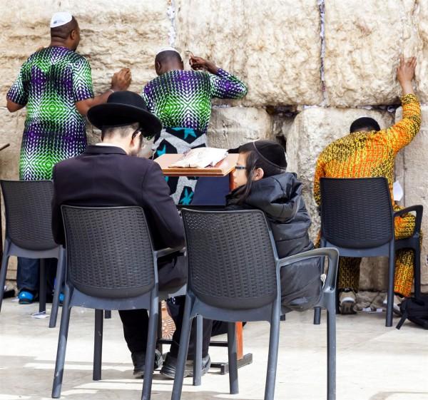 Jewish prayer, men's section, Kotel
