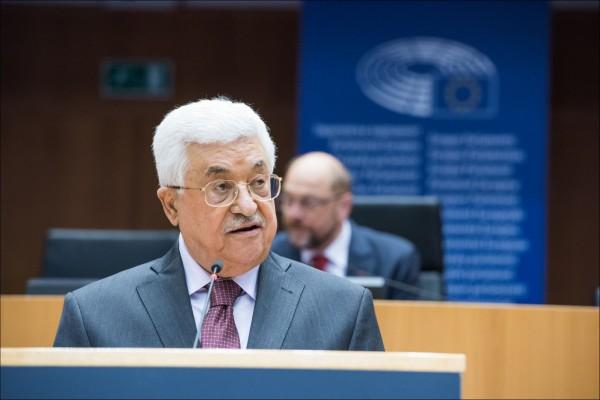 Abbas addresses the EU on June 23, 2016