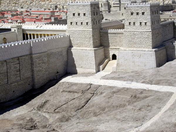 Jerusalem, Antonio Fortress, Hasmonean Baris, Lions Gate