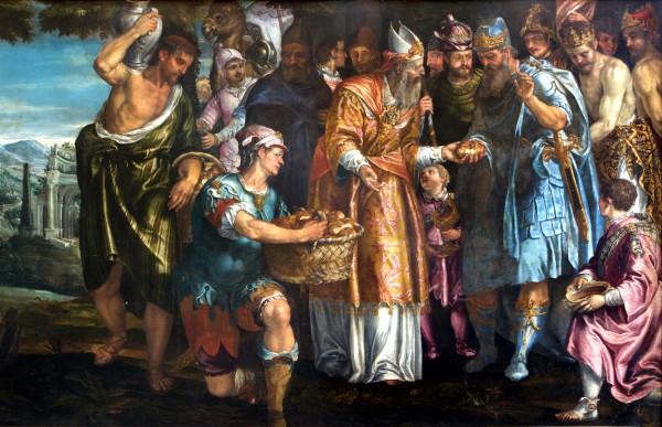 The Sacrifice of Melchizedek - Parrasio Michieli - Venice San Francesco della Vigna Church