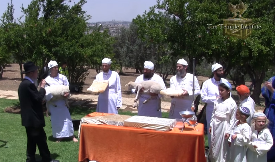 The Nezer HaKodesh Institute for Kohanic Studies trains priests to perform offerings and sacrifices as prescribed in the Torah (first five books of the Bible)  <em>(Source: Temple Institute YouTube capture)</em>