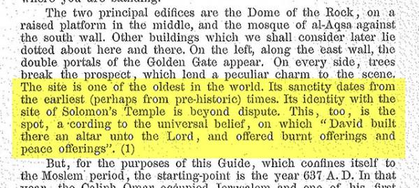 1925 A Brief Guide to Al-Haram Al-Sharif, Supreme Muslim Council, temple mount history