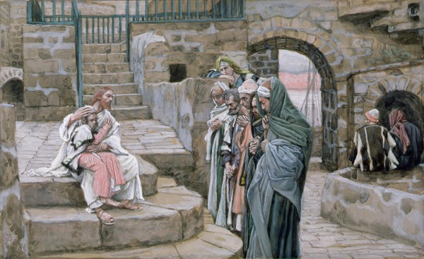 Jesus and the Little Child, by James Tissot