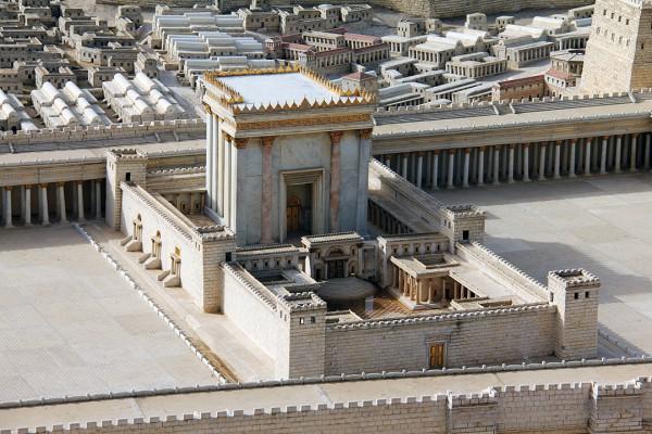 second temple, herod's temple model