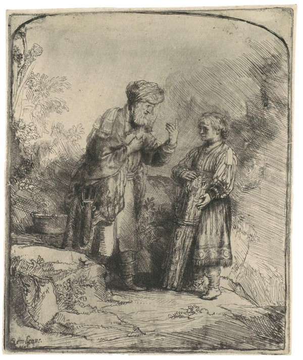 Abraham and Isaac (1645), by Rembrandt