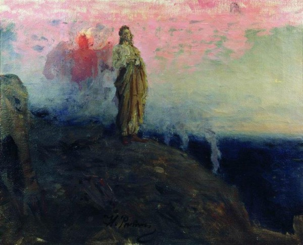 Temptation of Jesus Christ by Ilya Repin