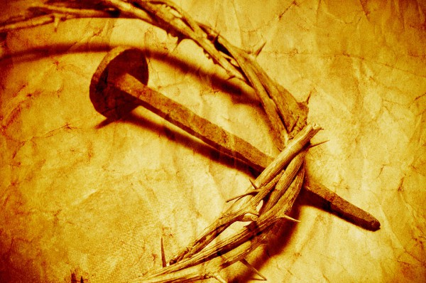 crown of thorns and nail