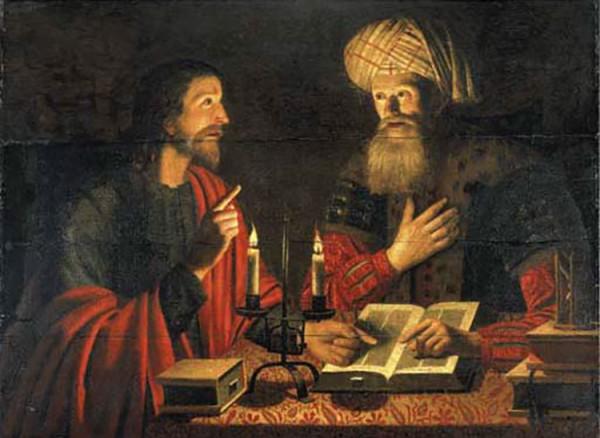 Jesus and Nicodemus, by Crijn Hendricksz