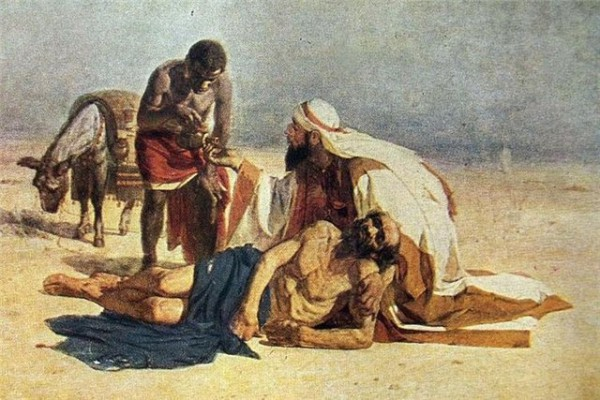 The Good Samaritan (1874), by Vasily Surikov