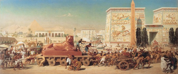 Israel in Egypt (1867), by Edward Poynter, depicting the enslavement of the Israeli People under the rule of Pharaoh.