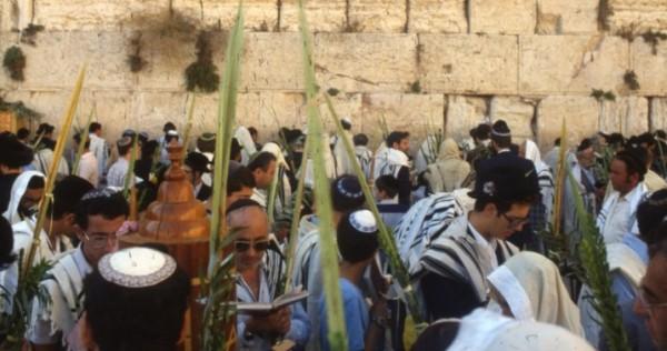 Sukkot at the Western (Wailing) Wall in Jerusalem