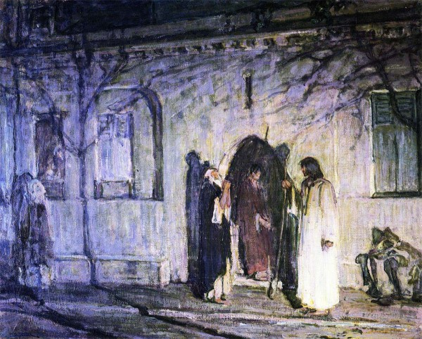 Messiah with the Canaanite Woman and Her Daughter (1909), by Henry Ossawa Tanner