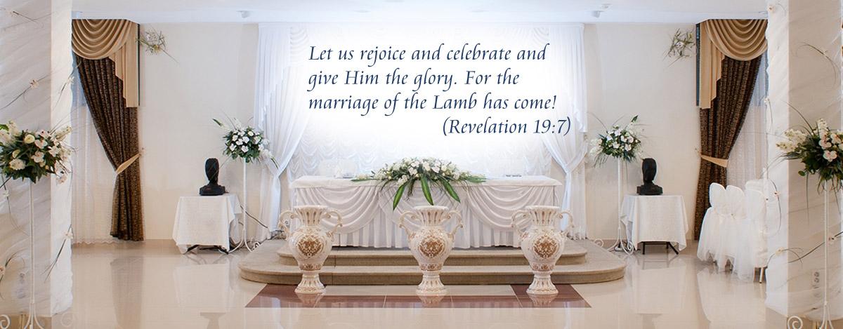banquet table, Revelation 19:7