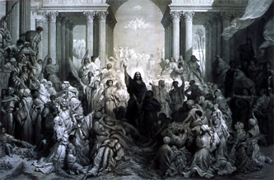 Messiah Entering Jerusalem, by Gustav Dore