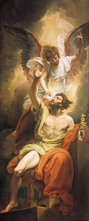 Isaiah's Lips Anointed with Fire, by Benjamin West (1738–1820)