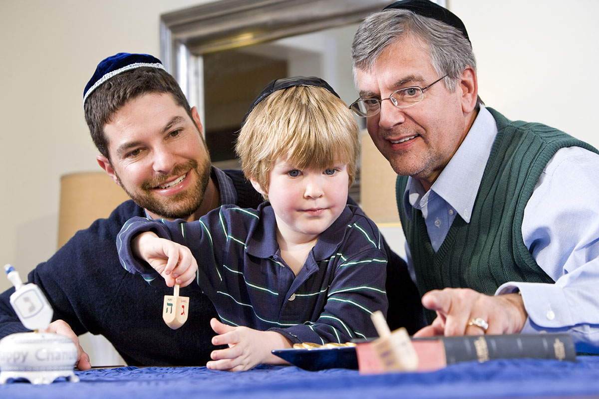 Three generations of a Jewish family.