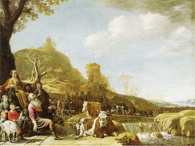 <b>God Appearing to Abraham at Shechem</b>, by Pouwels Potter (1625–1654)