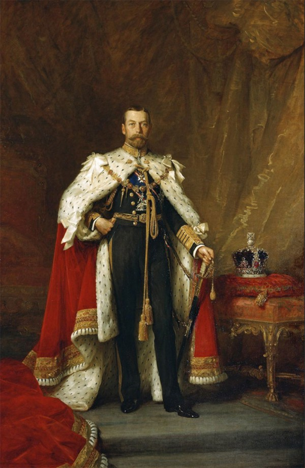 King George V wearing his royal robe (1911), by Sir Samuel Luke Fildes